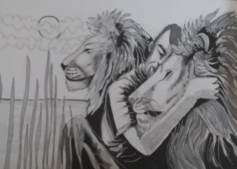 Sarah Bouzaglou Boissin - l'homme aux lions