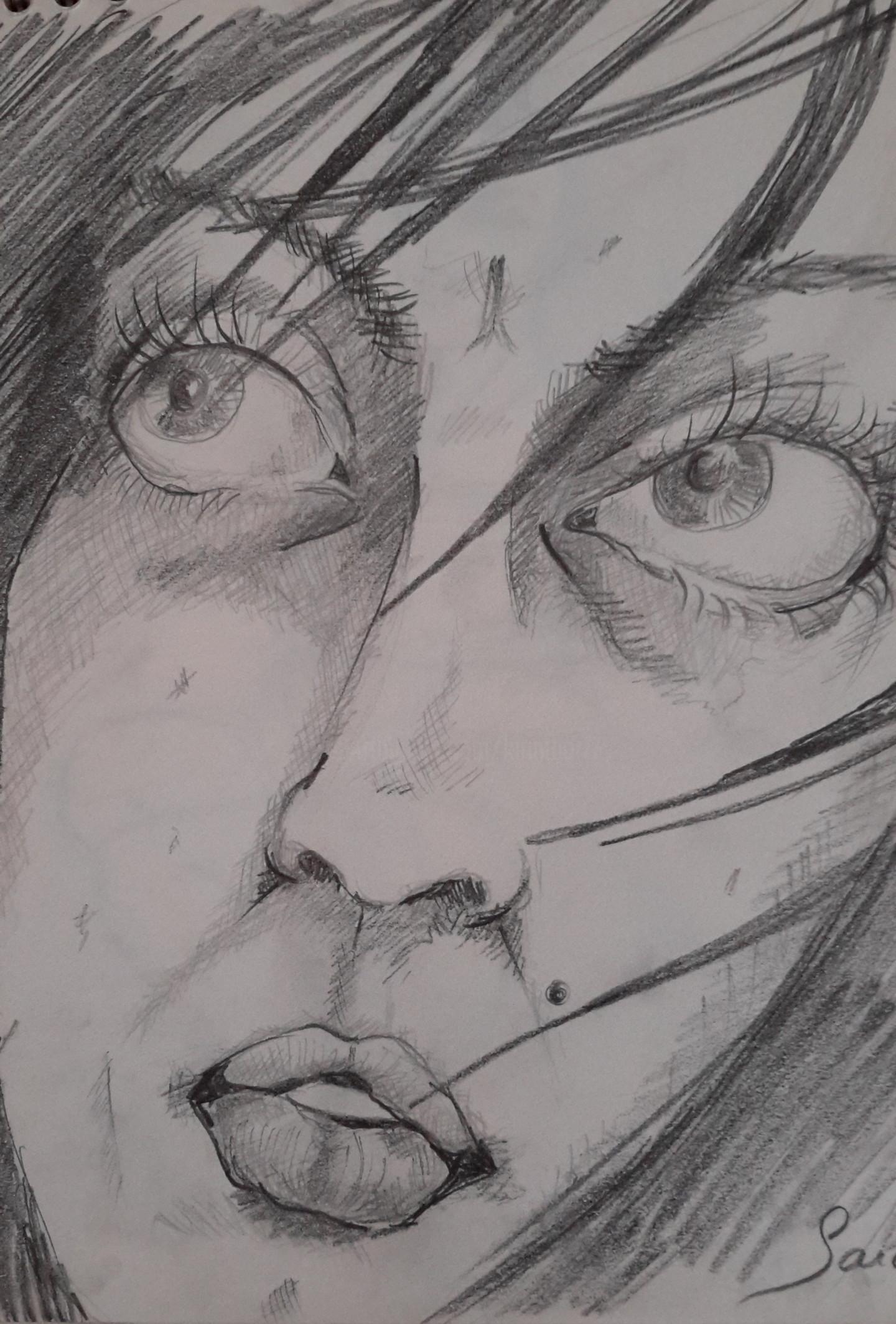 Sarah Bouzaglou Boissin - esquisse visage
