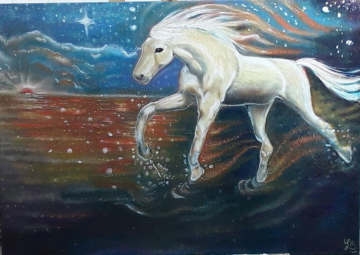 Sarah Bouzaglou Boissin - cheval nocturne