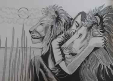 l'homme aux lions